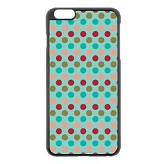 Large Circle Rainbow Dots Color Red Blue Pink Apple Iphone 6 Plus/6s Plus Black Enamel Case by Alisyart