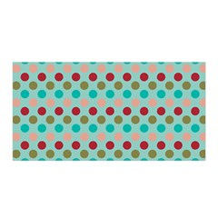 Large Circle Rainbow Dots Color Red Blue Pink Satin Wrap