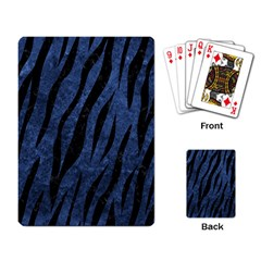 Skin3 Black Marble & Blue Stone (r) Playing Cards Single Design by trendistuff