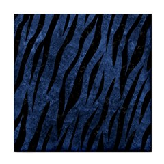Skin3 Black Marble & Blue Stone (r) Face Towel by trendistuff