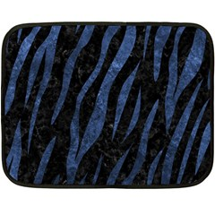Skin3 Black Marble & Blue Stone Double Sided Fleece Blanket (mini) by trendistuff