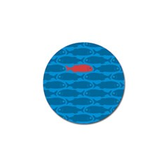 Fish Line Sea Beach Swim Red Blue Golf Ball Marker (10 Pack) by Alisyart