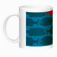 Fish Line Sea Beach Swim Red Blue Night Luminous Mugs by Alisyart