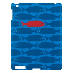 Fish Line Sea Beach Swim Red Blue Apple Ipad 3/4 Hardshell Case by Alisyart