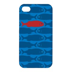 Fish Line Sea Beach Swim Red Blue Apple Iphone 4/4s Premium Hardshell Case by Alisyart