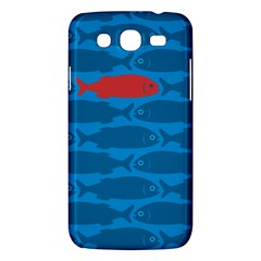 Fish Line Sea Beach Swim Red Blue Samsung Galaxy Mega 5 8 I9152 Hardshell Case  by Alisyart