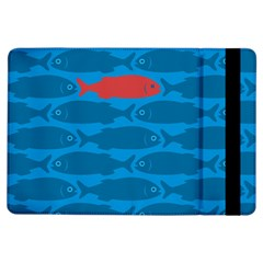 Fish Line Sea Beach Swim Red Blue Ipad Air Flip