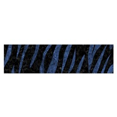 Skin3 Black Marble & Blue Stone Satin Scarf (oblong) by trendistuff