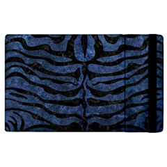 Skin2 Black Marble & Blue Stone (r) Apple Ipad 3/4 Flip Case by trendistuff