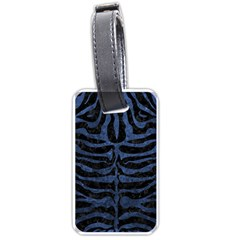 Skin2 Black Marble & Blue Stone Luggage Tag (one Side) by trendistuff