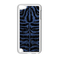 Skin2 Black Marble & Blue Stone Apple Ipod Touch 5 Case (white) by trendistuff