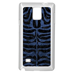Skin2 Black Marble & Blue Stone Samsung Galaxy Note 4 Case (white) by trendistuff