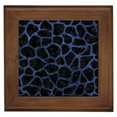 Skin1 Black Marble & Blue Stone (r) Framed Tile by trendistuff