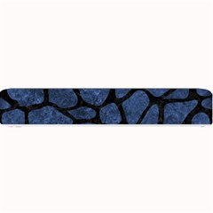 Skin1 Black Marble & Blue Stone Small Bar Mat by trendistuff