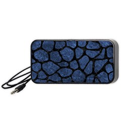 Skin1 Black Marble & Blue Stone Portable Speaker (black) by trendistuff
