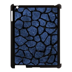 Skin1 Black Marble & Blue Stone Apple Ipad 3/4 Case (black) by trendistuff