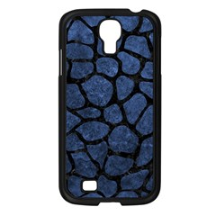 Skin1 Black Marble & Blue Stone Samsung Galaxy S4 I9500/ I9505 Case (black) by trendistuff