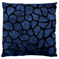Skin1 Black Marble & Blue Stone Standard Flano Cushion Case (one Side) by trendistuff