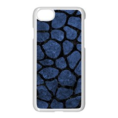 Skin1 Black Marble & Blue Stone Apple Iphone 7 Seamless Case (white) by trendistuff