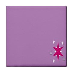 Purple Flagred White Star Tile Coasters by Alisyart