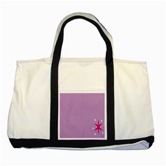 Purple Flagred White Star Two Tone Tote Bag by Alisyart