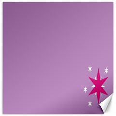 Purple Flagred White Star Canvas 20  X 20   by Alisyart