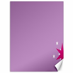 Purple Flagred White Star Canvas 36  X 48   by Alisyart