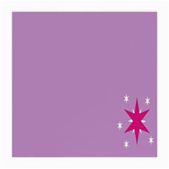 Purple Flagred White Star Medium Glasses Cloth (2 Side) by Alisyart