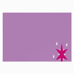 Purple Flagred White Star Large Glasses Cloth by Alisyart