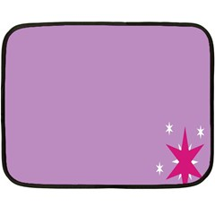 Purple Flagred White Star Fleece Blanket (mini) by Alisyart