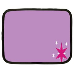 Purple Flagred White Star Netbook Case (xl)  by Alisyart