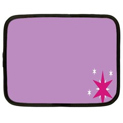 Purple Flagred White Star Netbook Case (xxl)