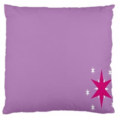 Purple Flagred White Star Large Cushion Case (two Sides) by Alisyart