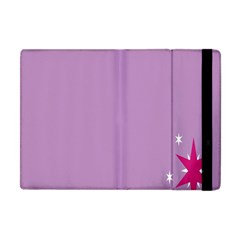 Purple Flagred White Star Apple Ipad Mini Flip Case by Alisyart
