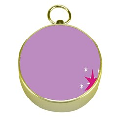 Purple Flagred White Star Gold Compasses