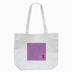 Purple Flagred White Star Tote Bag (white)