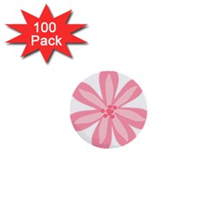 Pink Lily Flower Floral 1  Mini Buttons (100 Pack)  by Alisyart