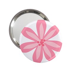 Pink Lily Flower Floral 2 25  Handbag Mirrors by Alisyart