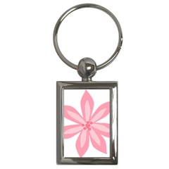 Pink Lily Flower Floral Key Chains (rectangle)  by Alisyart
