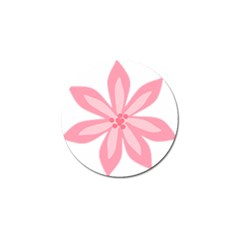 Pink Lily Flower Floral Golf Ball Marker (10 Pack)