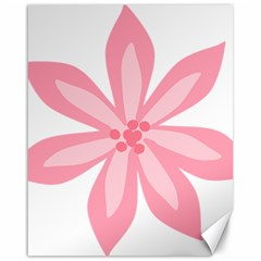 Pink Lily Flower Floral Canvas 16  X 20   by Alisyart