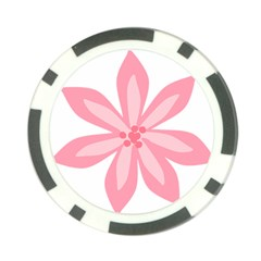 Pink Lily Flower Floral Poker Chip Card Guard