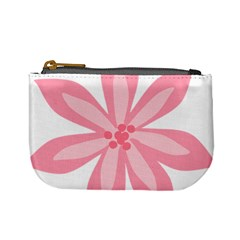 Pink Lily Flower Floral Mini Coin Purses by Alisyart