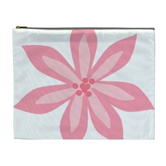 Pink Lily Flower Floral Cosmetic Bag (xl) by Alisyart