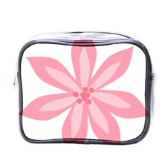 Pink Lily Flower Floral Mini Toiletries Bags by Alisyart
