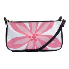 Pink Lily Flower Floral Shoulder Clutch Bags by Alisyart