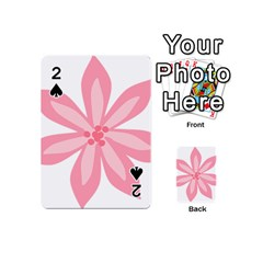 Pink Lily Flower Floral Playing Cards 54 (mini)  by Alisyart