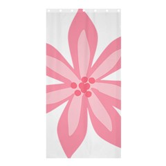 Pink Lily Flower Floral Shower Curtain 36  X 72  (stall)  by Alisyart