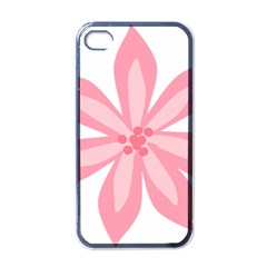 Pink Lily Flower Floral Apple Iphone 4 Case (black)