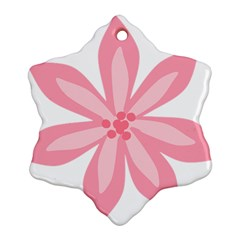 Pink Lily Flower Floral Ornament (snowflake)